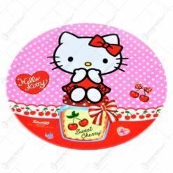 Farfurie plata realizata din melamina - 20 cm - Design Hello Kitty