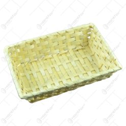 Cos pentru servire impletit manual din bambus - Mediu (Model 1)