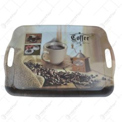 Tava pentru servire realizat din plastic - Design Coffee