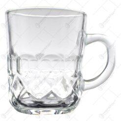 Set 6 cani realizate din sticla pentru ceai/cafea