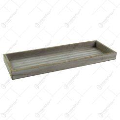 Tava realizata din lemn pentru servire - Gri