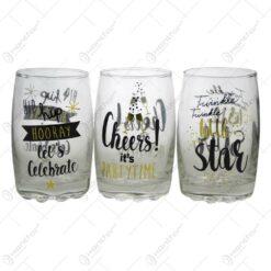 Set pahare de sticla - Design Party Time