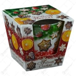 Lumanare parfumata de Craciun in pahar  - Christmas Flavours - 2 arome