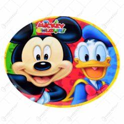 Farfurie intinsa realizata din material plastic - 20 cm - Design Mickey Mouse & Donald