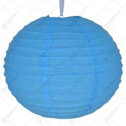 Lampion realizat din hartie - Albastru