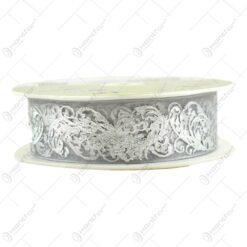 Panglica decorativa realizata din satin - Argintiu (25MMX10M)