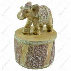 Cutie pentru bijuterii realizata din rasina - Design cu elefant