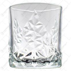 Set 6 pahare realizate din sticla pentru whiskey (Model 2)