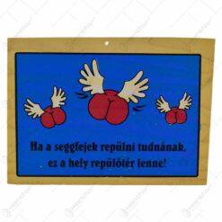 Tablita din lemn inscriptionat cu gluma - Nu ma pot decide...