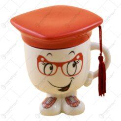Cana realizata din ceramica - Cadou de absolvire