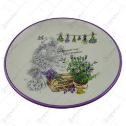 Platou realizat din ceramica - Design Lavanda Anti