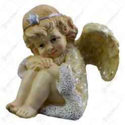 Figurina decorativa realizata din rasina - Ingeras ganditor - 2 modele