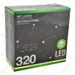 Instalatie led tip plasa pentru decor de craciun (320 led)