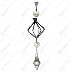 Ornament decoraiv pentru bradul de craciun realizat din material plastic si metal - Diferite modele