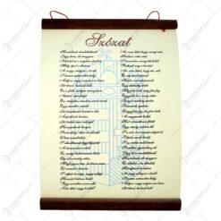 "Afis de perete realizat din hartie pergament si lemn - ""Bunicule Drag"""