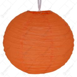 Lampion realizat din hartie in forma de glob - Portocaliu (40cm)