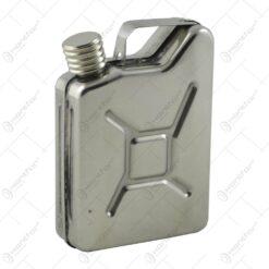 Plosca metalica mica in forma de canistra