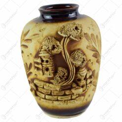"""Vaza realizata din ceramica - Design traditional """"Romania"""" - Diverse modele"""