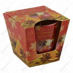 Lumanare parfumata de Craciun in pahar - Golden Christmas