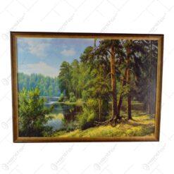 Tablou cu peisaj in rama realizat din lemn - Design Clasic (Tip 3)