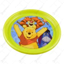 Farfurie plata realizata din material plastic -Design Winnie the Pooh (22cm)