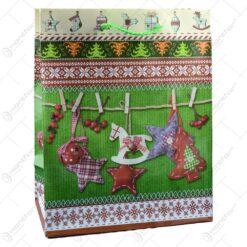 Punga pentru cadou decorata cu motive de craciun - Design craciun - Medie