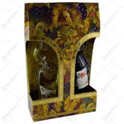 Set 2 tipuri de vin (rosu. alb) in sticle realizate in forma de barbat si femeie - Design Traditional