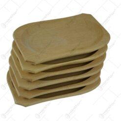 Set 6 farfurii realizate din lemn - Mic