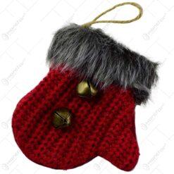 Decoratiune de agatat pentru Craciun - Manusa tricotata - 2 modele