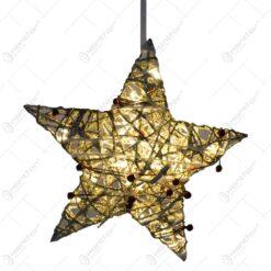 Decoratiune pentru agata in forma de stea cu 20 de leduri - Auriu