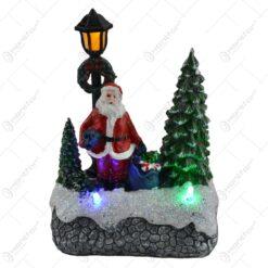 Decoratiune cu led pentru sarbatorile de iarna realizata din rasina - Design scena de iarna - Diverse modele