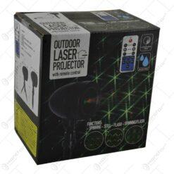 Proiector laser cu telecomanda pentru exterior sau interior - Design Craciun cu lumina verde si rosie