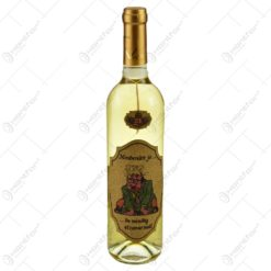 """Vin alb 0.75l cu eticheta personalizata haioasa din pluta - Design """"Mindenutt jo..."""""""