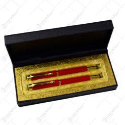 Set cadou in cutie eleganta - Stilou si pix - Dama