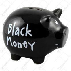 Pusculita din ceramica in forma de porcusor - Black Money - 2 modele