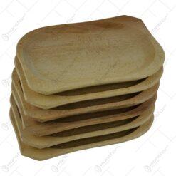 Set 6 farfurii realizate din lemn - Mare