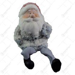 Figurina realizata din ceramica cu picioare din textil - Mos Nicolae - 2 modele