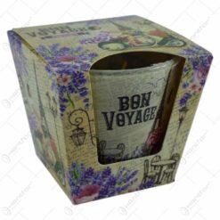 Lumanare parfumata in pahar de sticla - 2 modele Lavanda/Trandafir