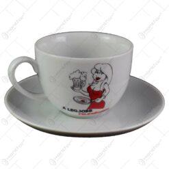 Ceasca cu farfurie - A legjobb felesegnek - Funny Mug