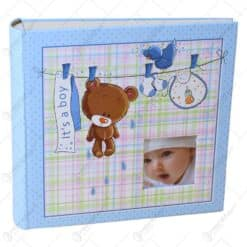 Album pentru fotografii - Design Baby cu ursulet si pasare - 2 modele Baiat/Fata