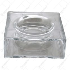 Suport (vaza) realizat din sticla pentru aranjamente florale - Transparent