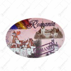 Magnet de frigider realizat din plastic si metal cu desfacator de sticle - Design Romania & Cladiri istorice - Diferite modele