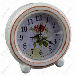 Ceas de masa rotund - Design floral - Diverse modele (Model 1)
