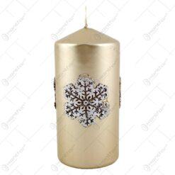 Lumanare craciun in forma cilindrica - Design Christmas Snow - Diferite culori
