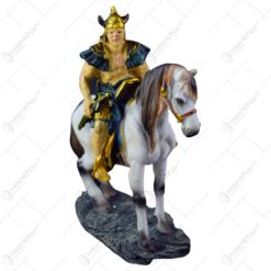 Statueta din rasina - Viking pe cal