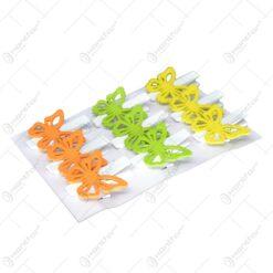 Set 9 fluturi cu clema pentru decoratiune