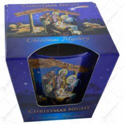 Lumanare parfumata in pahar de Craciun - Christmas Night - 2 modele