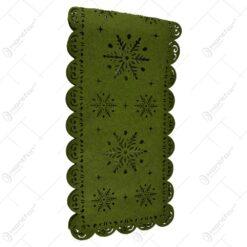 Napron decorativ Craciun din pasla 120x40 CM - Verde