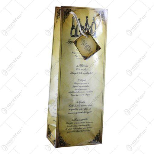 Punga cadou pentru bauturi cu indicatii pentru degustare