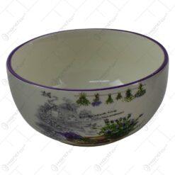 Bol pentru servire realizat din ceramica - Design Lavanda Antic